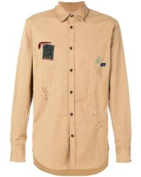 DSquared² - Distressed Patch Shirt - Lyst