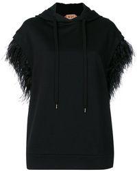 N°21 - Feather Sleeve Hoodie - Lyst