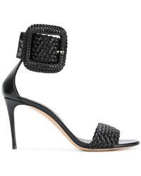 Casadei - Woven Buckle Sandals - Lyst