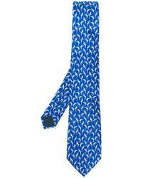 Lanvin - Alligator Print Tie - Lyst
