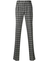 PT01 - Grey Checked Trousers - Lyst