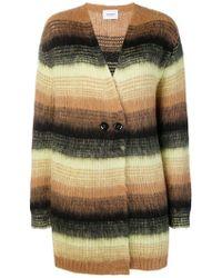 Dondup - Striped Cardi-coat - Lyst