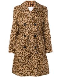 Dondup - Leopard-print Trench Coat - Lyst