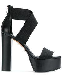Balmain - Platform Logo Sandals - Lyst