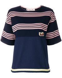 Marni - Striped Design T-shirt - Lyst