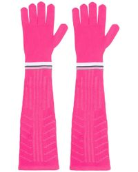 Prada - Long Logo Gloves - Lyst