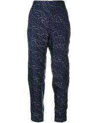 Victoria, Victoria Beckham - Swan Pyjama Trousers - Lyst