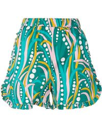 La Doublej Editions - Ruched Ruffle Shorts - Lyst