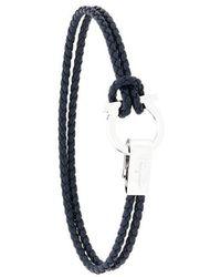Ferragamo - Braided Gancio Bracelet - Lyst