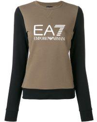 EA7 - Logo Print Sweatshirt - Lyst