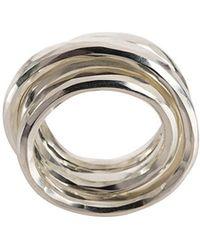Werkstatt:münchen - Multi Band Hammered Ring - Lyst