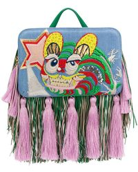 the VOLON - Tiger Embroidered Tote - Lyst