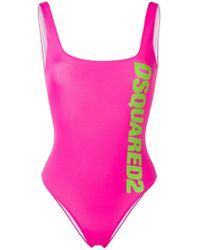 DSquared² - Printed Logo One-piece - Lyst