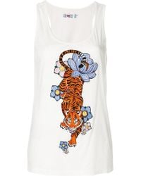 Ash - Embroidered Tank Top - Lyst