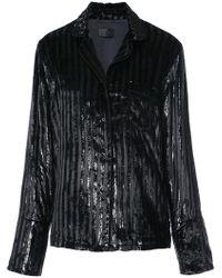RTA - Striped Sequined Blazer - Lyst