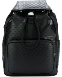 Emporio Armani - All Over Logo Backpack - Lyst