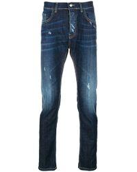 Frankie Morello - Distressed Slim-fit Jeans - Lyst