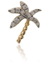Yvonne Léon - 18k Yellow Gold Palm Tree Diamond Earring - Lyst