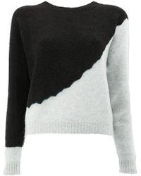 Suzusan - Bicolour Sweater - Lyst