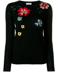 Sonia Rykiel - Embroidered Flower Jumper - Lyst