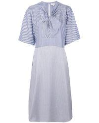 Carven - Knot Detail Contrast Dress - Lyst