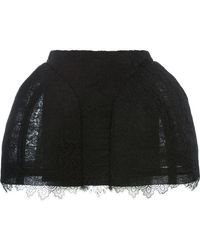 Vera Wang - Lace Detail Short Skirt - Lyst