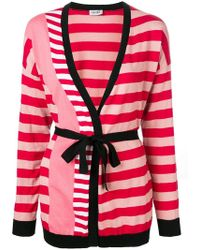 Liu Jo - Striped Wrap Cardigan - Lyst