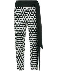 Chalayan Pantalon crop à ceinture nouée