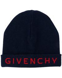 Givenchy - Intarsia Logo Beanie - Lyst
