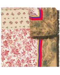 Pierre Louis Mascia - Printed Patchwork Scarf - Lyst