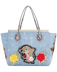 Philipp Plein - Flower Tiger Patch Tote - Lyst