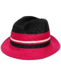 71f7a697fa572 Lyst - Sombrero fedora tejido Prada de color Negro