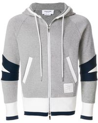 Thom Browne - Articulated Zip-up Jersey Hoodie - Lyst