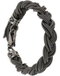 Emanuele Bicocchi - Braided Chain Bracelet - Lyst