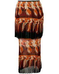 4ef9ab5b75 Fendi - Parrot Motif Layered Skirt - Lyst