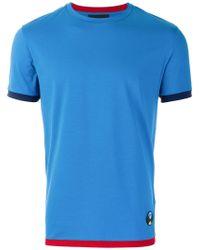 Prada - Contrast Trim T-shirt - Lyst