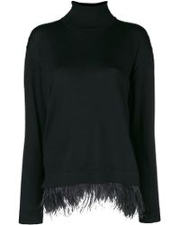In Young Roll Jumper Black Neck Lyst By Oversized Bonnie 6EZPnxq0