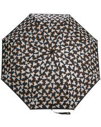 Moschino - Teddybear Logo Printed Umbrella - Lyst