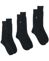 Ralph Lauren - 3 Pack Socks - Lyst