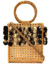 Serpui - Embellished Straw Bag - Lyst