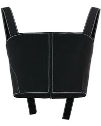 David Koma - Cropped Knitted Top - Lyst