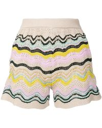 M Missoni - Striped Knit Short Shorts - Lyst