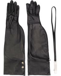 Rick Owens Larry Gloves - Black
