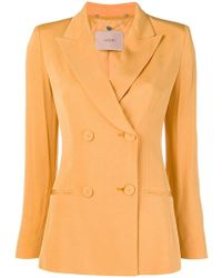 Twin Set - Double Breasted Blazer - Lyst