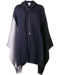 Chloé - Asymmetric Zip-up Poncho - Lyst