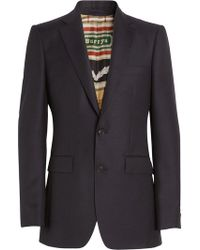 Burberry - Slim Fit Wool Mohair Tailored Jacket - Lyst