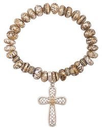 Loree Rodkin - Cross Charm Bracelet - Lyst