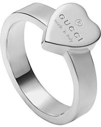 Gucci - Heart Ring With Trademark - Lyst