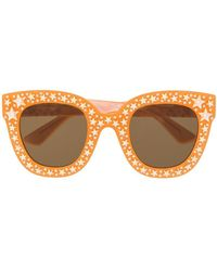 Gucci - Star Studded Frame Sunglasses - Lyst