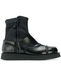 Jil Sander - Contrast Material Boots - Lyst